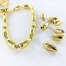 Drop plastic beads 15mm gold