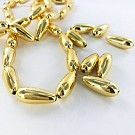 Drop plastic beads 20mm gold