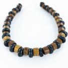 bone beads 6mm brown grey