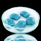 Fancy stones glass 18mm blue rectangle