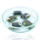Fancy stones glass 18mm green coated transparent rectangle