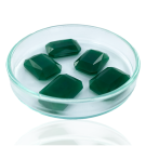 Fancy stones glass 18mm green rectangle