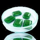 Fancy stones glass 18mm light green rectangle