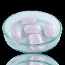 Fancy stones glass 18mm pink transparent rectangle