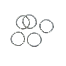 Closed rings round 16mm silver