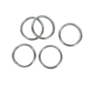 Closed rings round 18mm silver