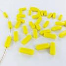 Glass beads rectangle 15mm yellow