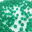Glass beads round green 6mm