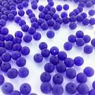 Glass beads round matt blue 6mm