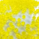 Glass beads round matt yellow 6mm