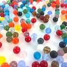 Glass beads round mix 6mm
