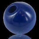 Wooden beads 38mm round blue