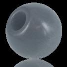 Wooden beads 38mm round grey