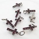 crystal rhinestone pendants cross red