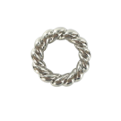 Plastic rings with spiral twist round 32mm silver