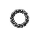 Plastic rings with spiral twist round 32mm anthracite