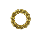 Plastic rings with spiral twist round 32mm gold