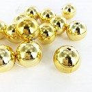 Plastic beads round 20mm gold