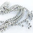 Plastic beads round 8mm silver