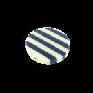 Plastic beads 34mm round white blue