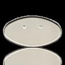 Brooche 70x40mm silver oval metal