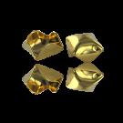 Steel cap gold color 13mm