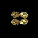 Steel cap gold color 6mm