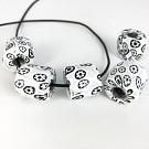 Millefiori beads cilinder 15mm multi colour