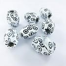 Millefiori beads oval 21mm multi colour