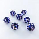 Millefiori beads round 14mm multi colour