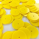 Sequins round flat 18mm yellow
