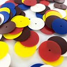 Sequins round flat 18mm mix