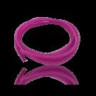 hollow pvc tubing cord square 4mm fuchsia pink
