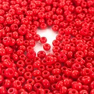 seed beads glass 6/0 red