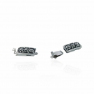 Box clasp for jewelry with sliding click system silver plated antique silver