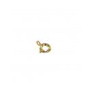 Spring ring clasp 6mm gold plated