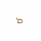 Spring ring clasp 7mm gold plated