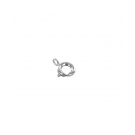 Spring ring clasp 7mm silver plated