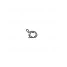 Spring ring clasp 6mm silver