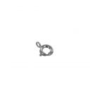 Spring ring clasp 9mm silver