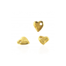 Gold plated heart charm pendants 10mm