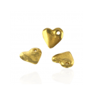 Gold plated heart charm pendants 15mm