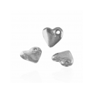 Silver plated heart charm pendants 15mm